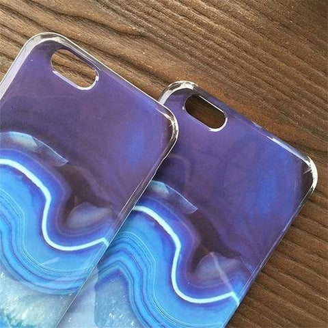 Blue Stone Case For iPhone