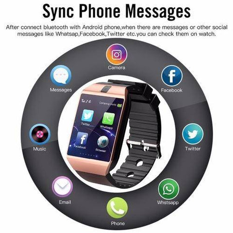 Bluetooth DZ09 Watch Android Phone Call SIM