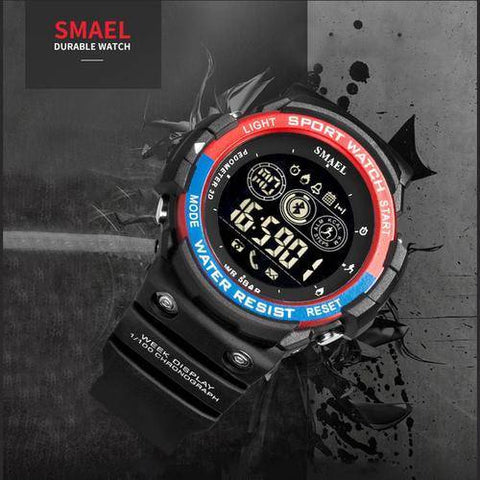 Men Digital Sport Male Clock Brand Kahki