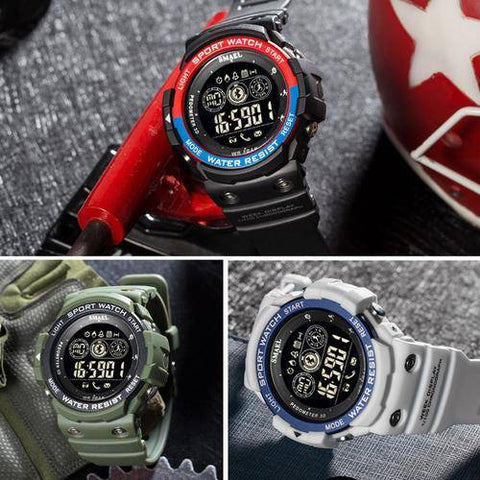 Image of Men Digital Sport Male Clock Brand Kahki