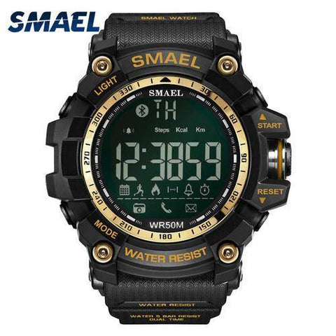 Men Digital Sport Male Clock Smael Brand Kahki