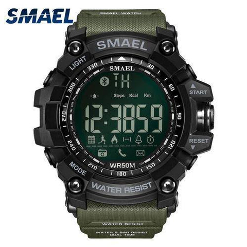 Image of Men Digital Sport Male Clock Smael Brand Kahki