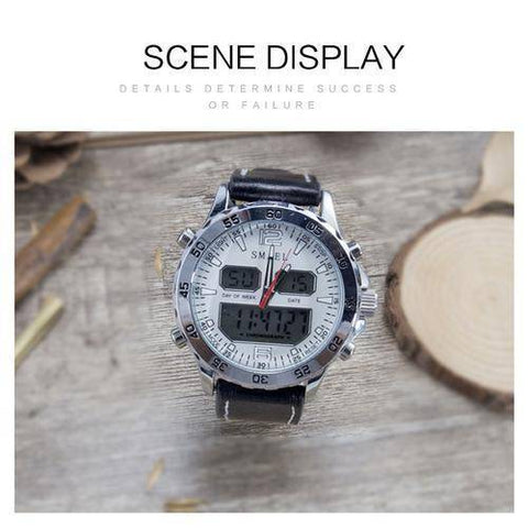 Sport Watches Waterproof Genuine Dual