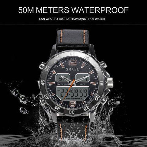 Image of Sport Watches Waterproof Genuine Dual