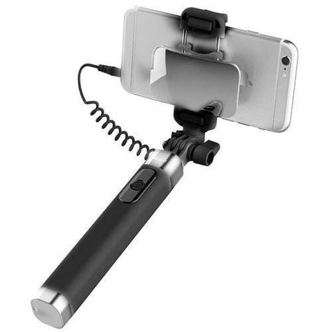 ROCK Universal Mirror Selfie Stick for IOS/ Android Phone Wired Selfie Stick