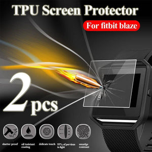 2PCS HD TPU Full-screen Explosion-proof Screen Protector Film For fitbit blaze Watch