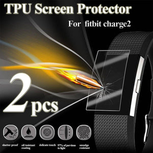 2PCS HD TPU Explosion-Proof Screen Protector For Fitbit Charge2 Watch