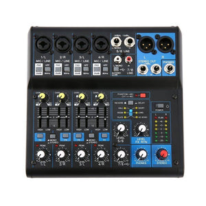 8 Channel DJ Powered Mixer Professional Power Mixing Amplifier USB Slot 16DSP +48V