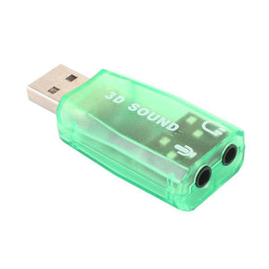 External Sound Card USB Sound Card Premium High Speed Headphone Audio Adapter