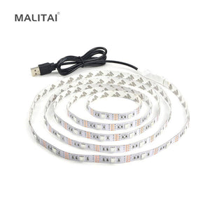 1Pcs 5V USB Cable LED Strip Night light 0.5m 1m 2m 3m 4m 5m 5050 SMD Holiday Decoration lamp Computer PC TV Background lighting
