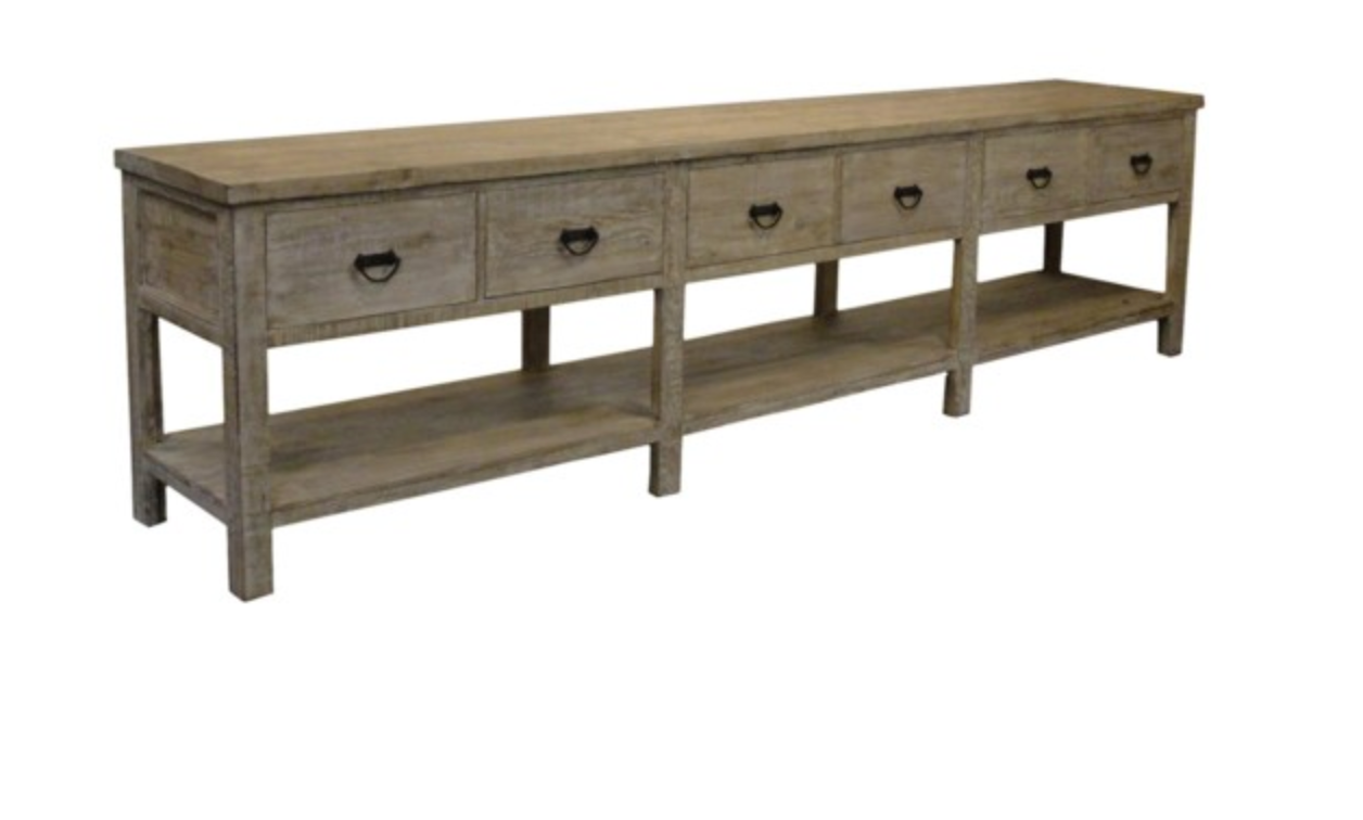Reclaimed Lumber Console
