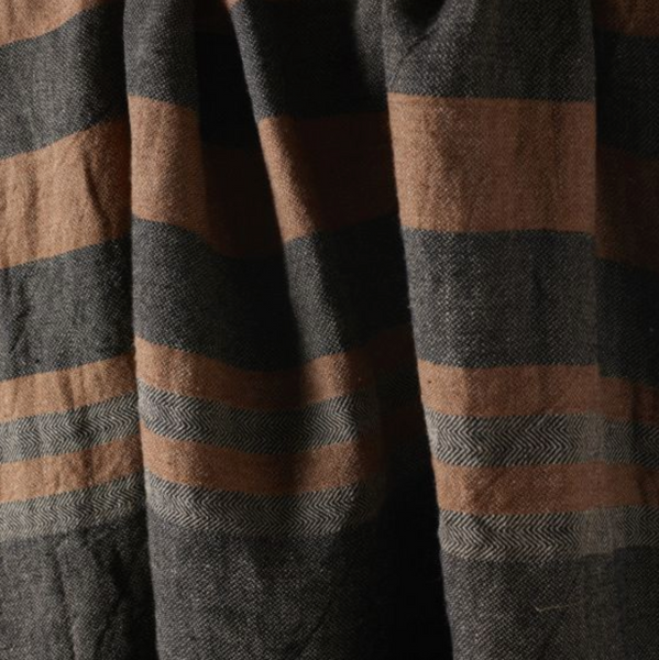 Belgian Fouta in Black Stripe
