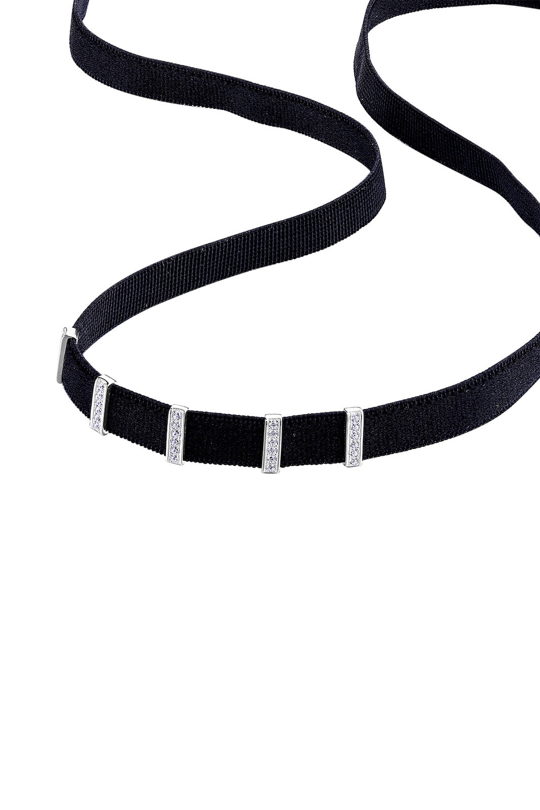 Classic Retro Silver Stretch Band Choker with Adjustable Pendants