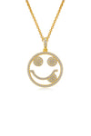 Emoji Just Kidding Gold Plated Silver Necklace Detail