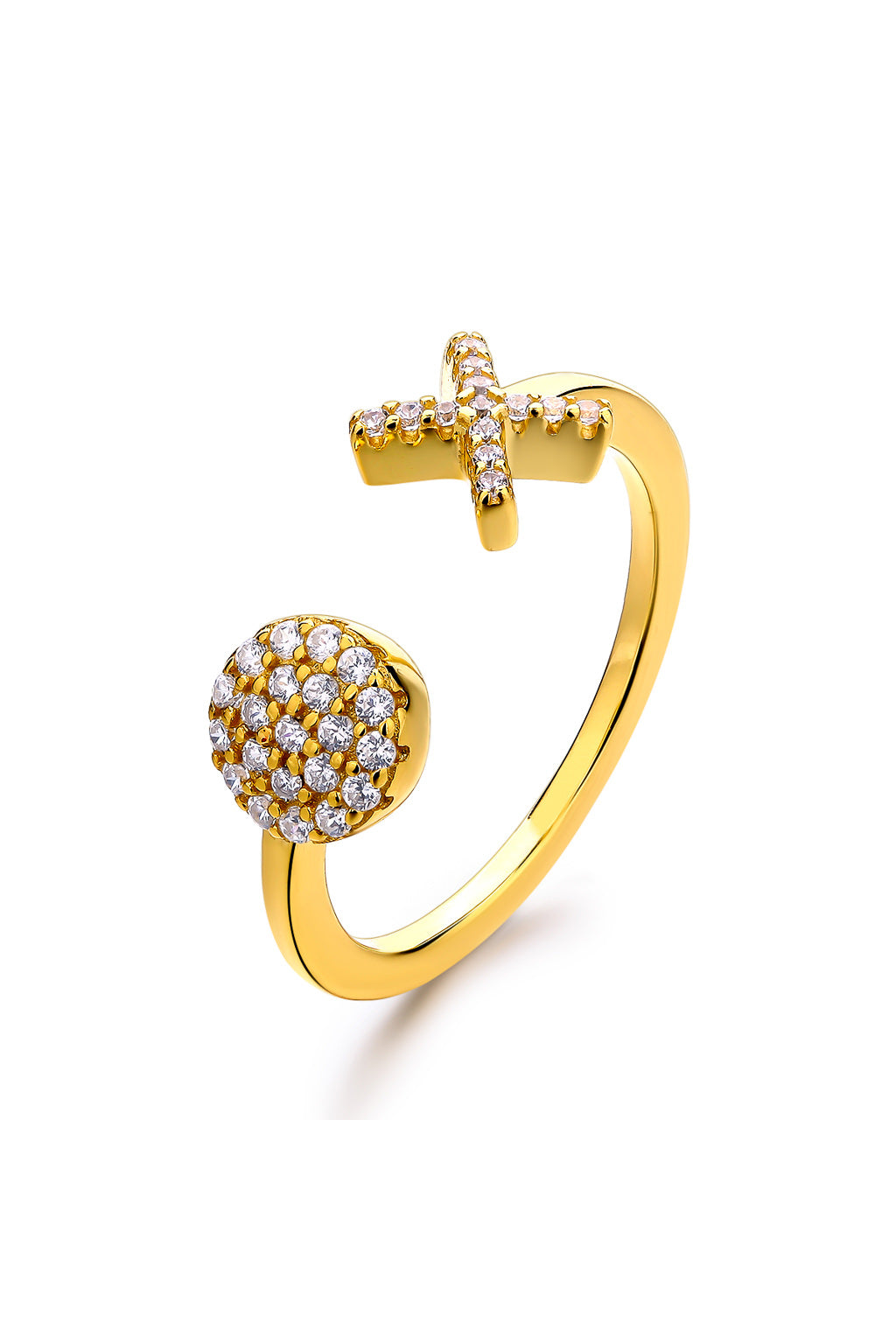 Emoji Ox Love Gold Plated Silver Ring Avilio Silver Jewellery