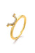 Emoji Smile Gold Plated Silver Ring