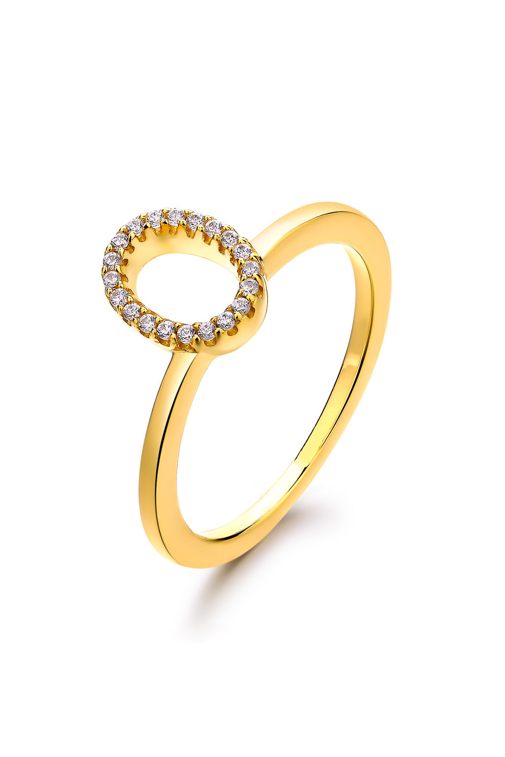 Emoji Surprise Surprise Gold Plated Silver Ring