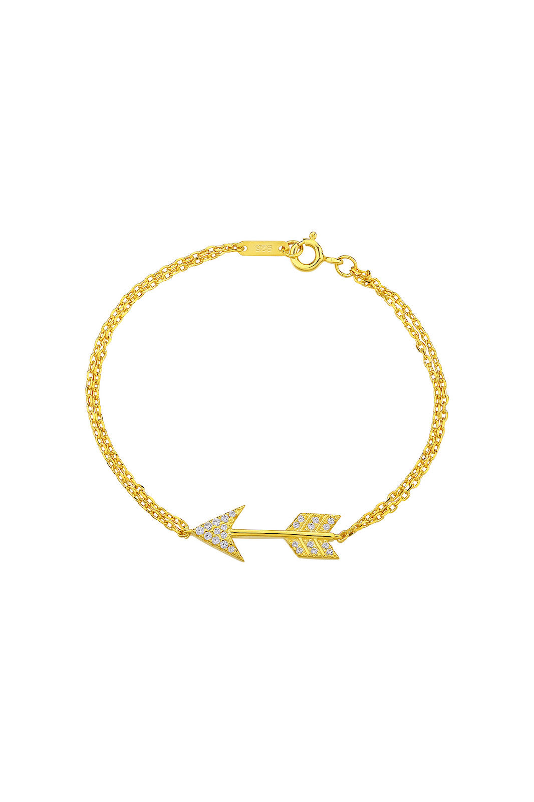 Gold Plated Silver Arrow Bracelet