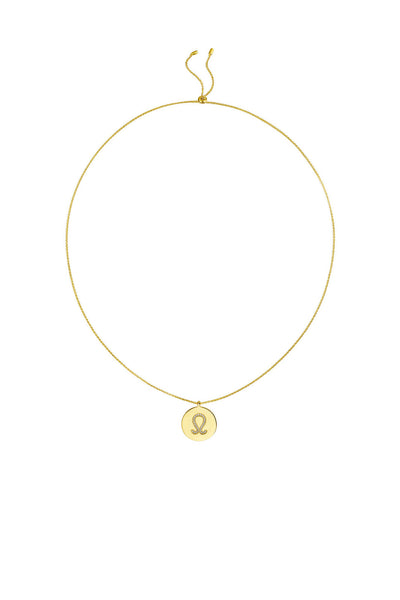 Gold Plated Silver Zodiac Necklace - Leo