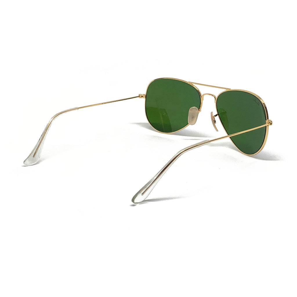 Ray Ban Aviator RB3025 58-14 58mm Gold Frame Flash Mirror Blue ...