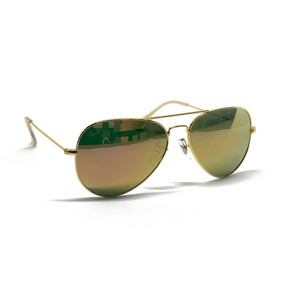Ray Ban Aviator RB3025 58-14 58mm Gold Frame Flash Mirror Copper ...