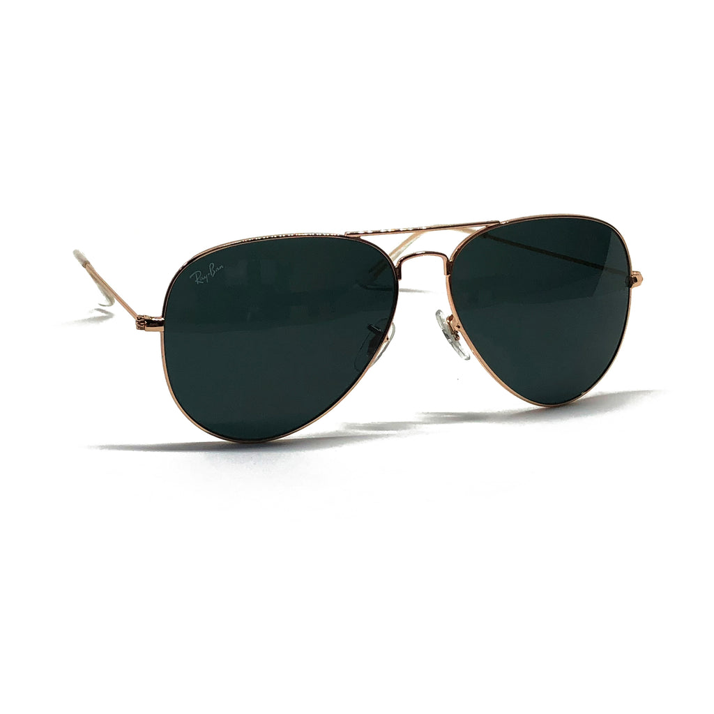 Ray Ban Aviator RB3026 62-14 62mm Gold Frame Black Sunglasses ...