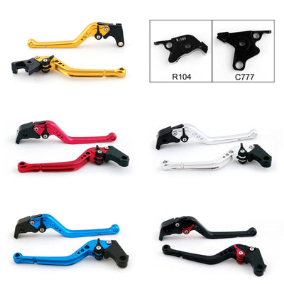 Long Brake Clutch Levers For Yamaha V-MAX 2009-2014 Black
