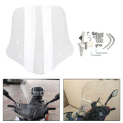 Universal ABS Plastic Motorcycle Windshield Windscreen with Mounting Kit