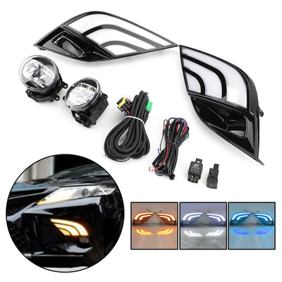 LED DRL Turn Signal Lamp Fog Light Wiring Refit For Toyota Camry SE XSE 18-19