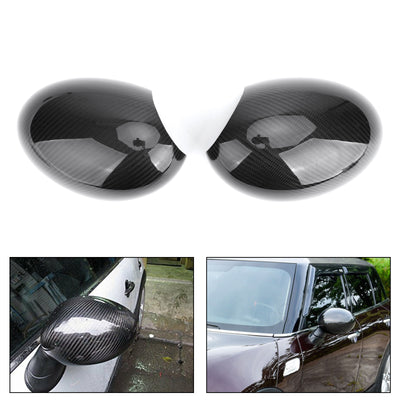 Carbon Door Mirror Caps Covers for Mini Cooper R55 R56 R57 R58 R60 (Power-Fold)