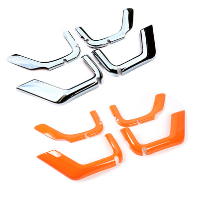 4pcs ABS Trunk Sundry Net String Bag Frame Trim For Renegade 2011+ 4Door Silver/Orange