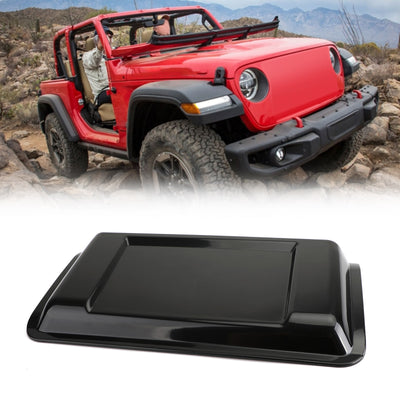 Black ABS Air Intake Hood Vent Scoop Cover Trim for Jeep Wrangler JL 2018-2019