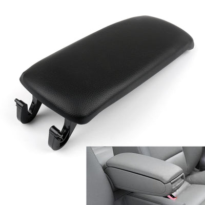 Generic PU Leather Center Console Armrest Cover Lid For Audi A4 S4 A6 2000-2008 Black