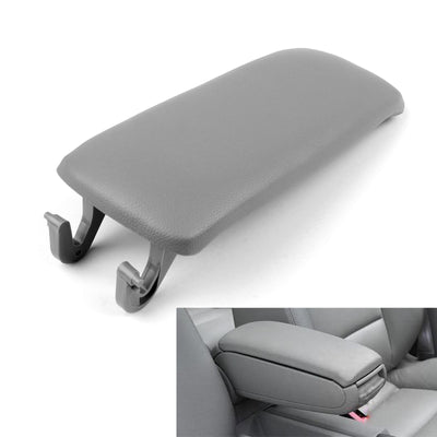 Generic PU Leather Center Console Armrest Cover Lid For Audi A4 S4 A6 2000-2008 Gray