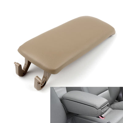 PU Leather Center Console Armrest Cover Lid For Audi A4 S4 A6 2000-2008 Khaki