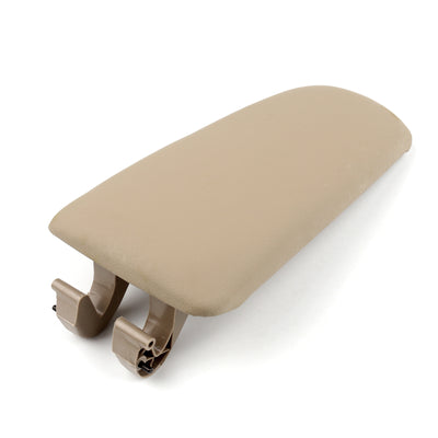 Generic PU Leather Center Console Armrest Cover Lid For Audi A4 B6 B7 2002-2008 Khaki