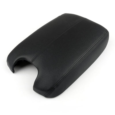 Generic Synthetic Leather ABS Console Lid Armrest Cover Fits Honda Accord 2008-12 Black