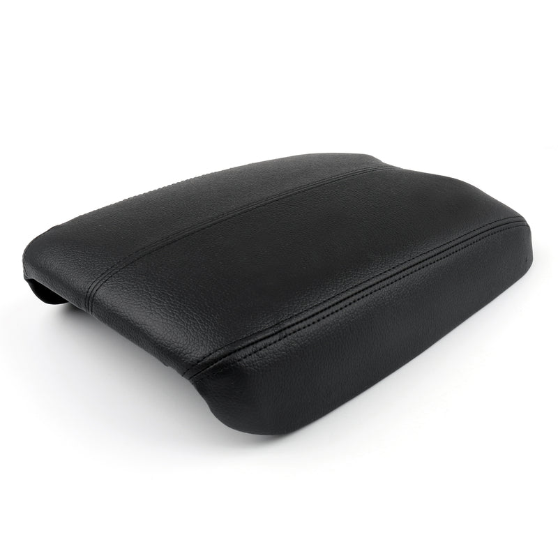 Synthetic Leather ABS Console Lid Armrest Cover Fits Honda Accord 2008-12 Black Generic