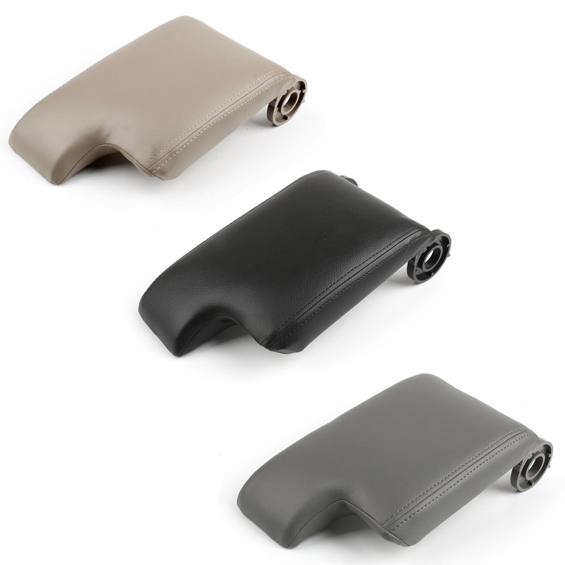 Leather Armrest Center Console Lid Cover For BMW E46 3 Series 98-06