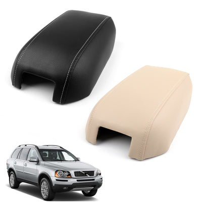 For 03-2014 Volvo XC90 Synthetic Leather Beige Center Console Lid Armrest Cover