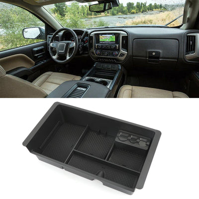 Center Console Organizer Tray For 15-18 GMC Yukon Chevrolet Silverado 2500 3500