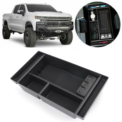 Center Console Organizer Insert Tray For 2019 GMC Sierra 1500 Chevy Silverado