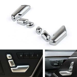 6PCS Chrome Seat Adjustment Switch For E Class W212 218 CLS X166 GL GLK