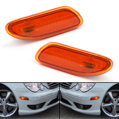 For Benz W203 C-Class 2001-2007 Side Marker Light in Bumper Turn Signal Lamp