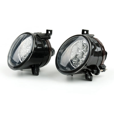 Pair Front LED Powered Front Fog Lights Bright White For VW Jetta MK5 05-09