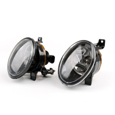 New Pair Of Front Convex Lens Fog Lamp Fog Light 9006 For VW Jetta Golf MK6 Eos