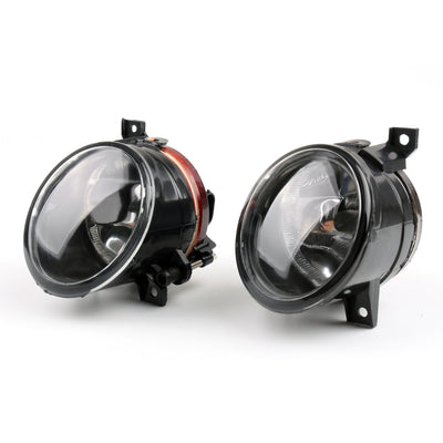 Pair Front Bumper Convex Lens Fog Light For VW MK5 Golf Jetta Bora 2005-2010