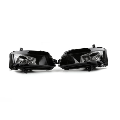 Pair Front Right & Left Bumper Fog Light Lamp Assembly For VW Golf MK7 2014-2016