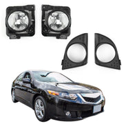 LH+RH Foglight Fog Light Lamp Cover Metal Without Bulbs For Acura TSX 2009-2010