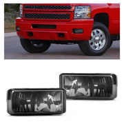 2X Front Bumper Fog Lights For 07-13 Chevy Silverado Tahoe Suburban Avalanche GY